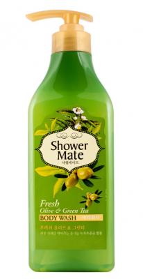 Гель для душа Оливки и зеленый чай KeraSys Shower mate fresh olive & green tea 550мл: фото