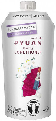 Кондиционер для волос с ароматом розы и граната KAO Merit pyuan daring 340мл: фото