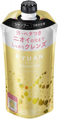 Шампунь для волос с ароматом персика и сливы KAO Merit pyuan circle 340мл: фото