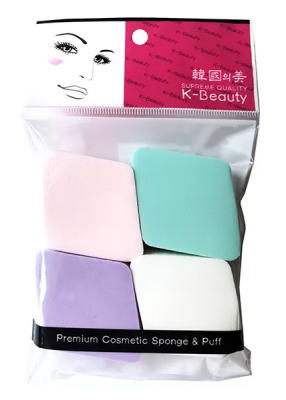 Спонж косметический ромб K-Beauty Premium Cosmetic Sponge NR-11 4шт: фото