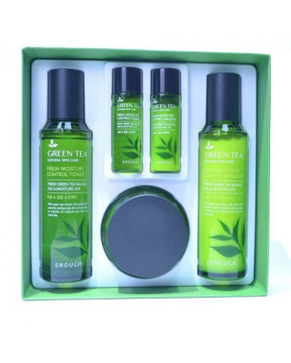 Набор для лица с зеленым чаем Enough En№6 green tea moisture control 3set: фото